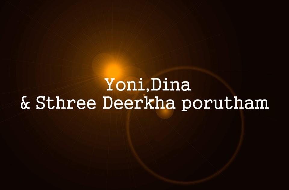 Yoni,Dina &Sthree Deerkha porutham
