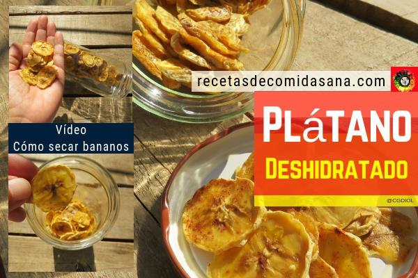 Plátano Deshidratado o Seco es sin duda la mejor maneara de preservar las muchas propiedades del plátano