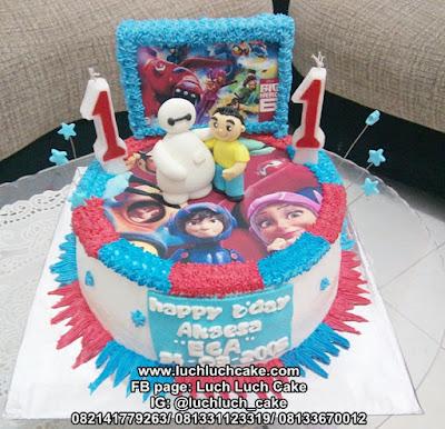 Kue Tart Baymax Big Hero 5 Untuk Anak Cowok