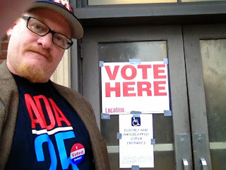 Tim Wheat at a Memphis polling site