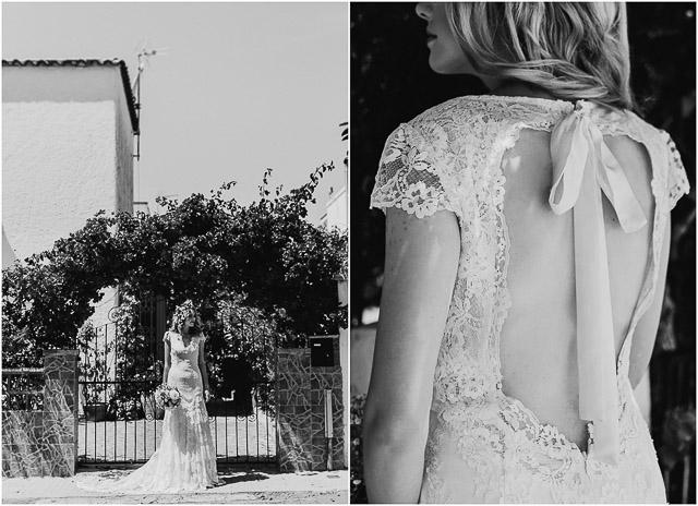 boda blog novia vestido Cymbeline corona flores