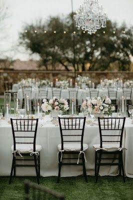 long table design at reception