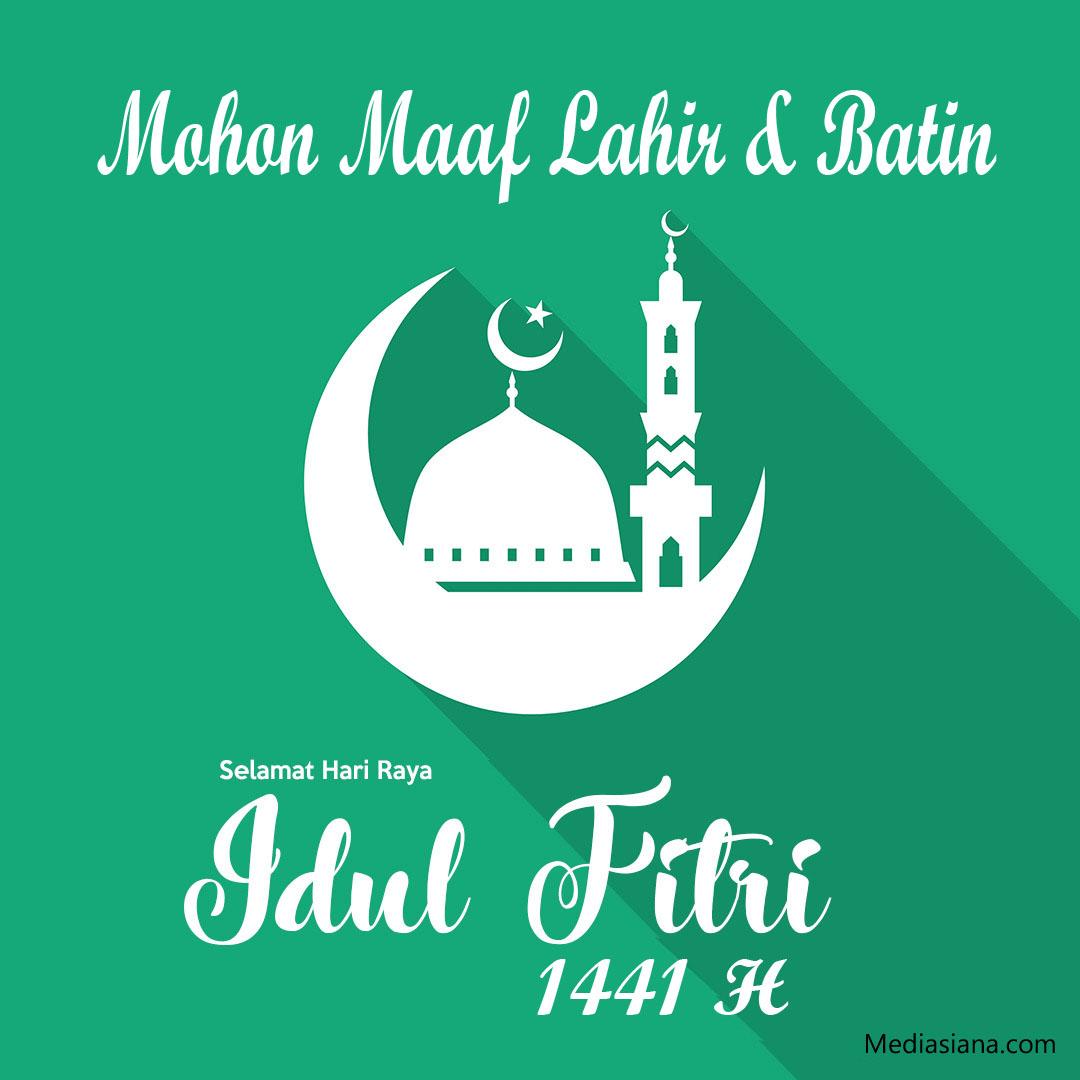 Gambar Kartu Lebaran Ucapan Selamat Hari Raya Idul Fitri