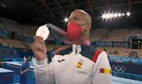 gimnasta-RayZapata-Tokyo 2020-plata-medalla