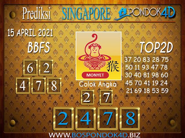 Prediksi Togel SINGAPORE PONDOK4D 15 APRIL 2021