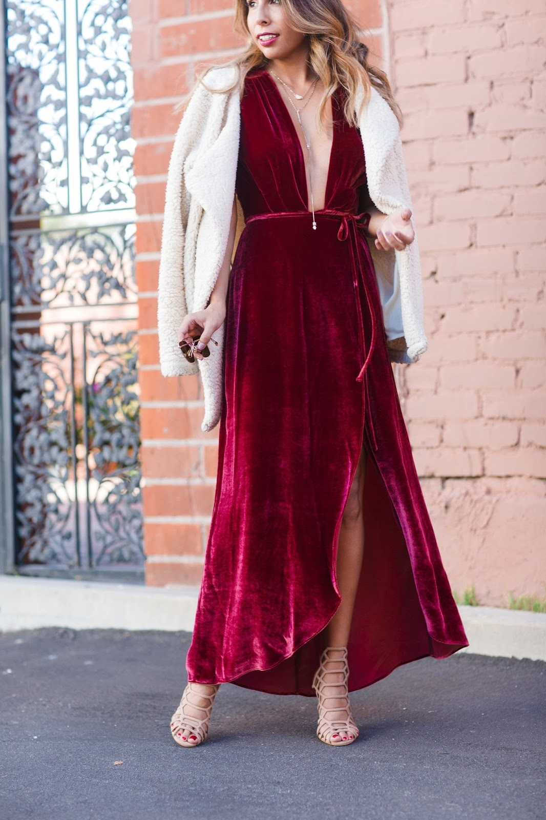 how to wear velvet dress, velvet reformation dress, holiday party outfit ideas