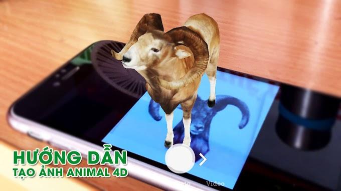 Hướng dẫn tạo ảnh Animal 4D - hiển thị các loại động vật trong không gian 3 chiều