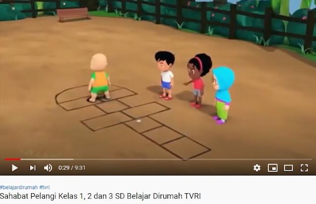 Video Pembelajaran TVRI Kelas 1, 2 dan 3 SD Tema Sahabat Pelangi Belajar Dirumah