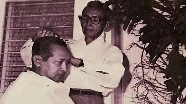 Siti Hediati Soeharto mengunggah potret saat almarhum ayahnya sedang dicukur