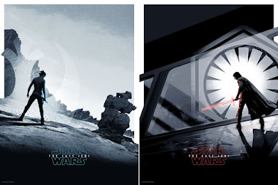 "Star Wars: The Last Jedi ""Rey"" & ""Kyo Ren"" Screen Prints by Matt Ferguson x Bottleneck Gallery"