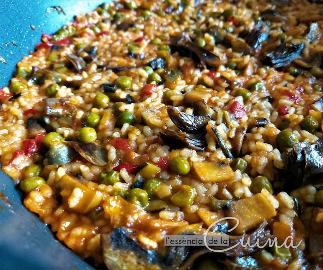 Arròz. Verdures, Arroz, Verduras, paella, cuina casolana, cocina casera, l'Essència de la Cuina, Blog de Cuina de la Sònia