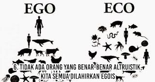 Tidak Ada Orang yang Benar-Benar Altruistik, Kita Semua Dilahirkan Egois