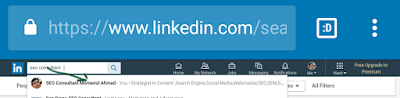 Linkedin's search engine suggested keywords seo consultant Momenul Ahmad's Optimize image