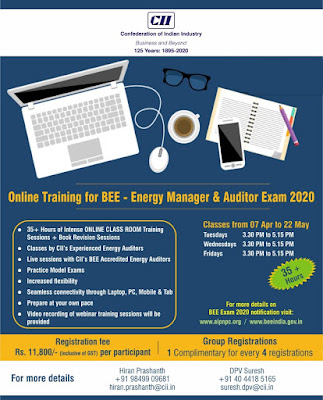 Online Training for Energy Manager/ Auditor Exam