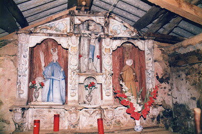 capilla, santa Bárbara, Ibias, Barca, retablo