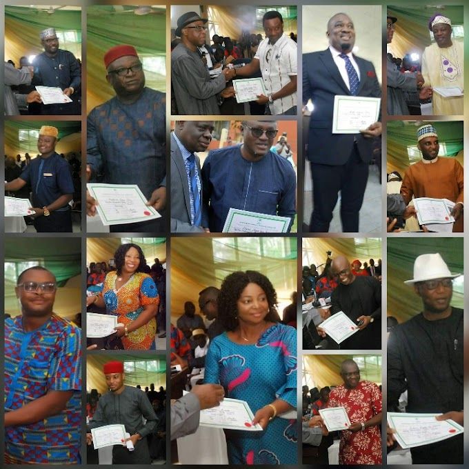 CHECK OUT THE FULL LIST OF ELECTED MEMBERS OF THE CROSS RIVER STATE HOUSE OF ASSEMBLY AS THEY RECEIVED THEIR CERTIFICATES OF RETURN