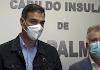 Pedro Sánchez en la rueda de prensa sobre el volcán de La Palma