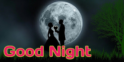Romantic good night images pics with couple love