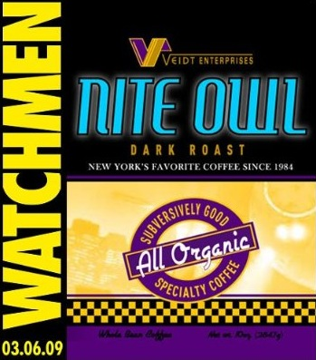 Label for Nite Owl coffee