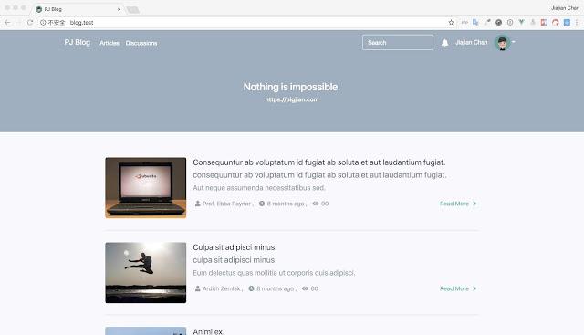 (Laravel) Membuat Open Source Blog dengan Laravel dan VueJS