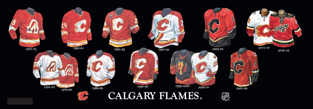 Heritage Uniforms And Jerseys Nfl Mlb Nhl Nba Ncaa Us Colleges Calgary Flames Franchise Team Arena And Uniform History