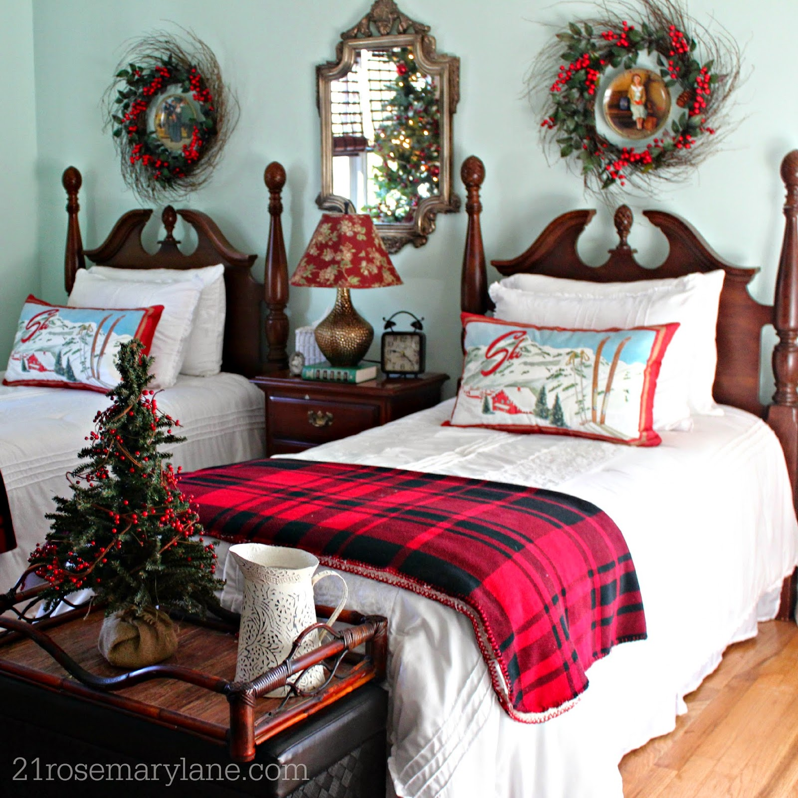 21 Rosemary Lane: Cozy Ski Chalet Themed Guest Bedroom For