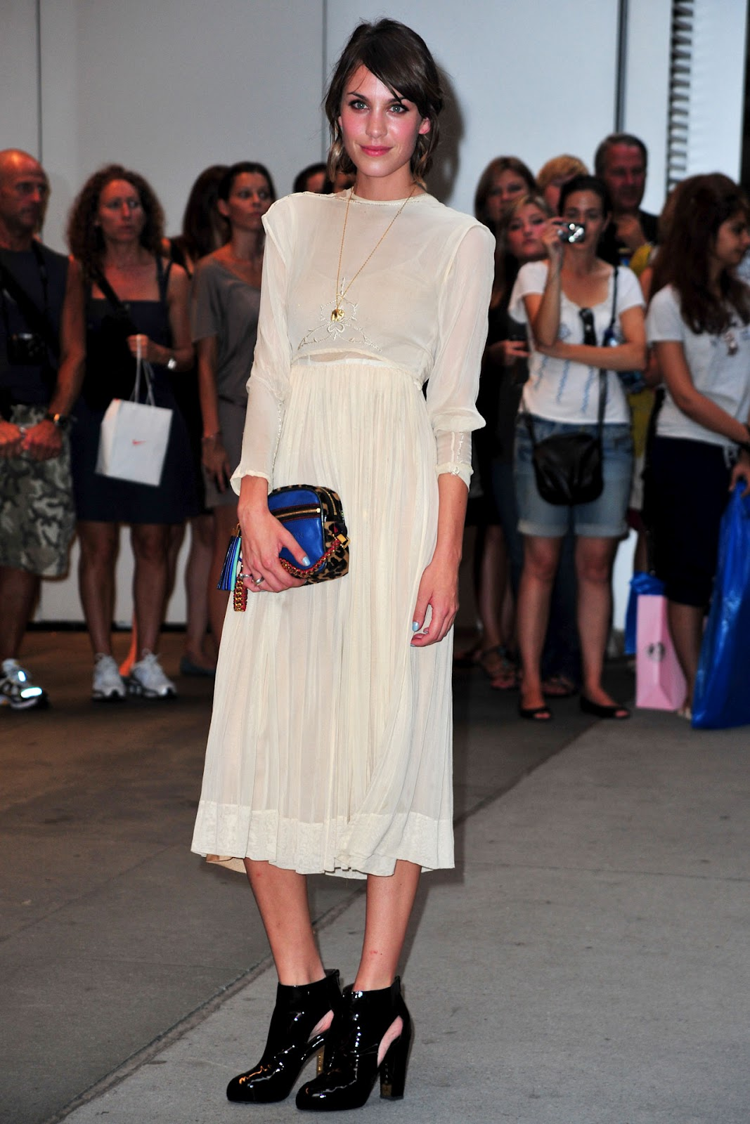 9914954f60ff FROM the small screen to fashion's front row - Alexa Chung'sunique look  inspires legions of copycats keen to emulate her trademark kooky style.