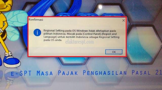 eSPT PPh 21 Error Regional Setting Pada OS WIndows