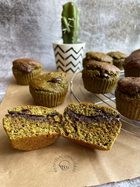 Muffin Matcha Chocolat - Recette facile - IG bas