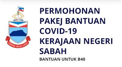Permohonan Pakej Bantuan COVID-19 Negeri Sabah B40 (Semakan Status)