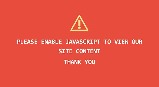 Cara Menyembunyikan Konten Blog Jika Javascript Dinonaktifkan