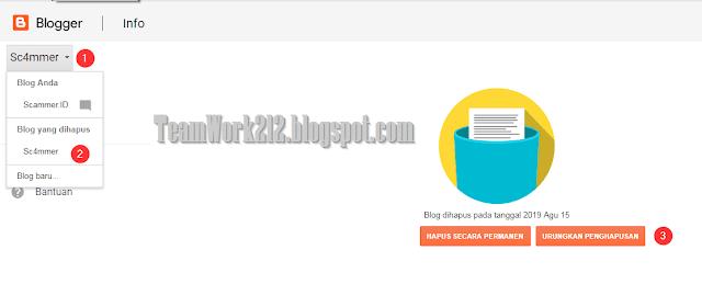 Memulihkan blog yang dihapus