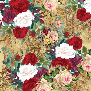 Flower Running Print Textile Design A