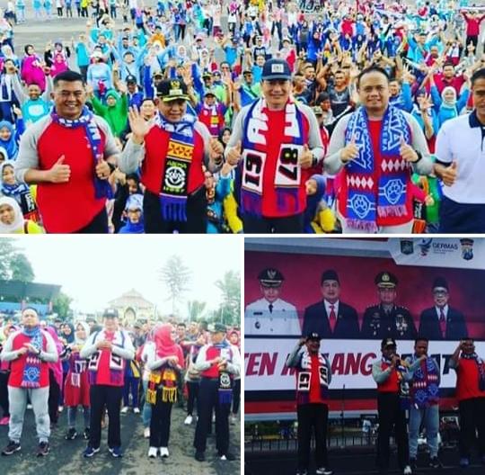 Kompak, Ribuan Personil Polres dan ASN di Malang Gelar Senam Bersama