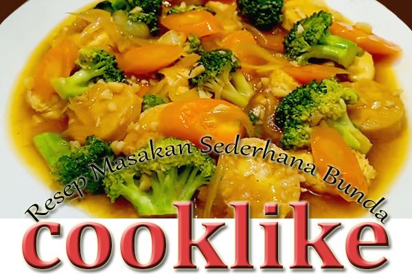 Cara Membuat Brokoli Tofu Saus Tiram
