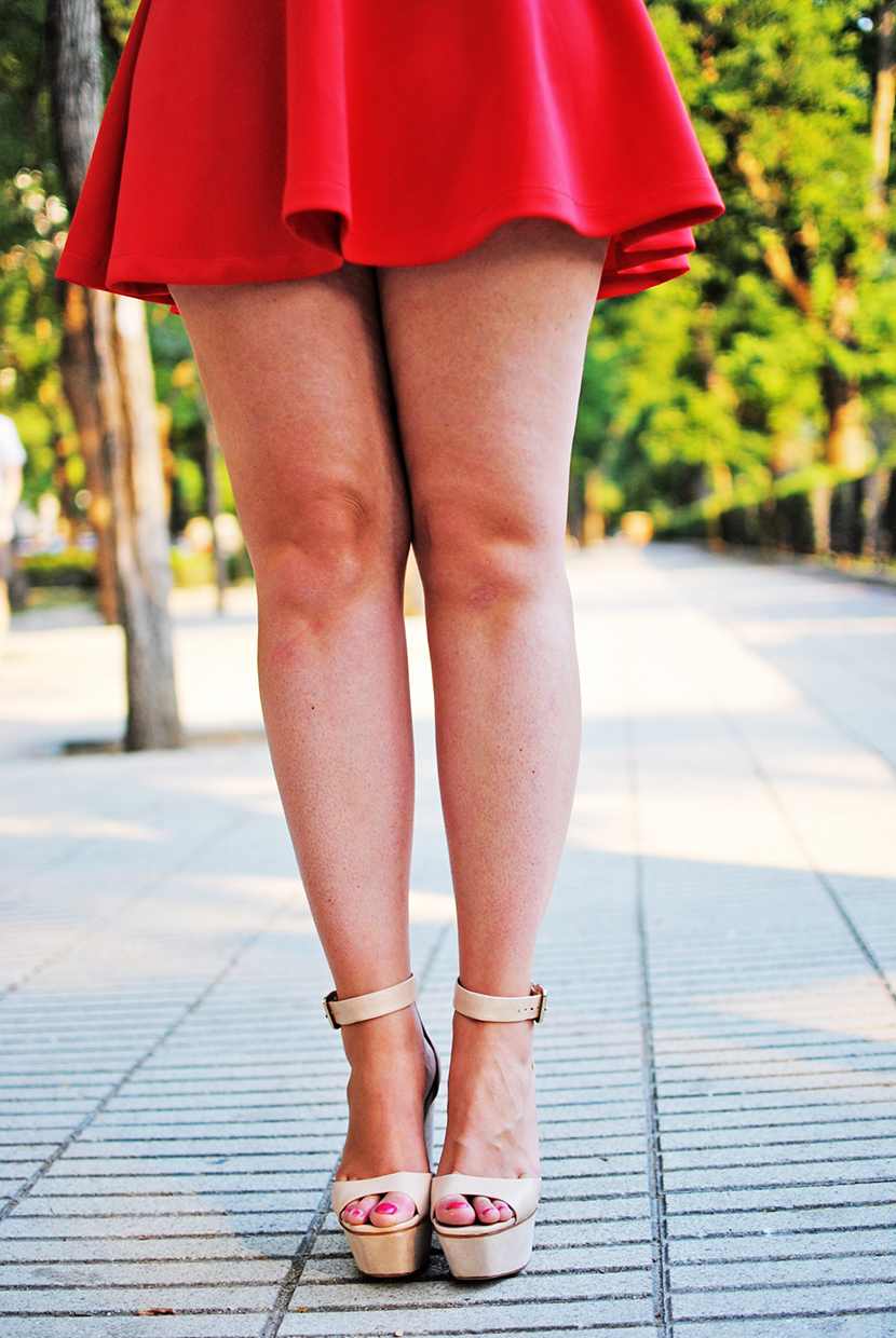 SNB, Nery Hdez, red dress, preska, preska bloggers, zara shoes