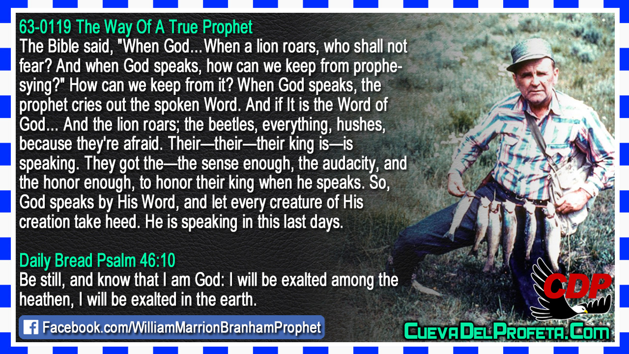 The prophet cries out the spoken Word - William Marrion Branham
