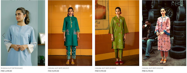 Ethnic by outfitters ready to wear summer collection