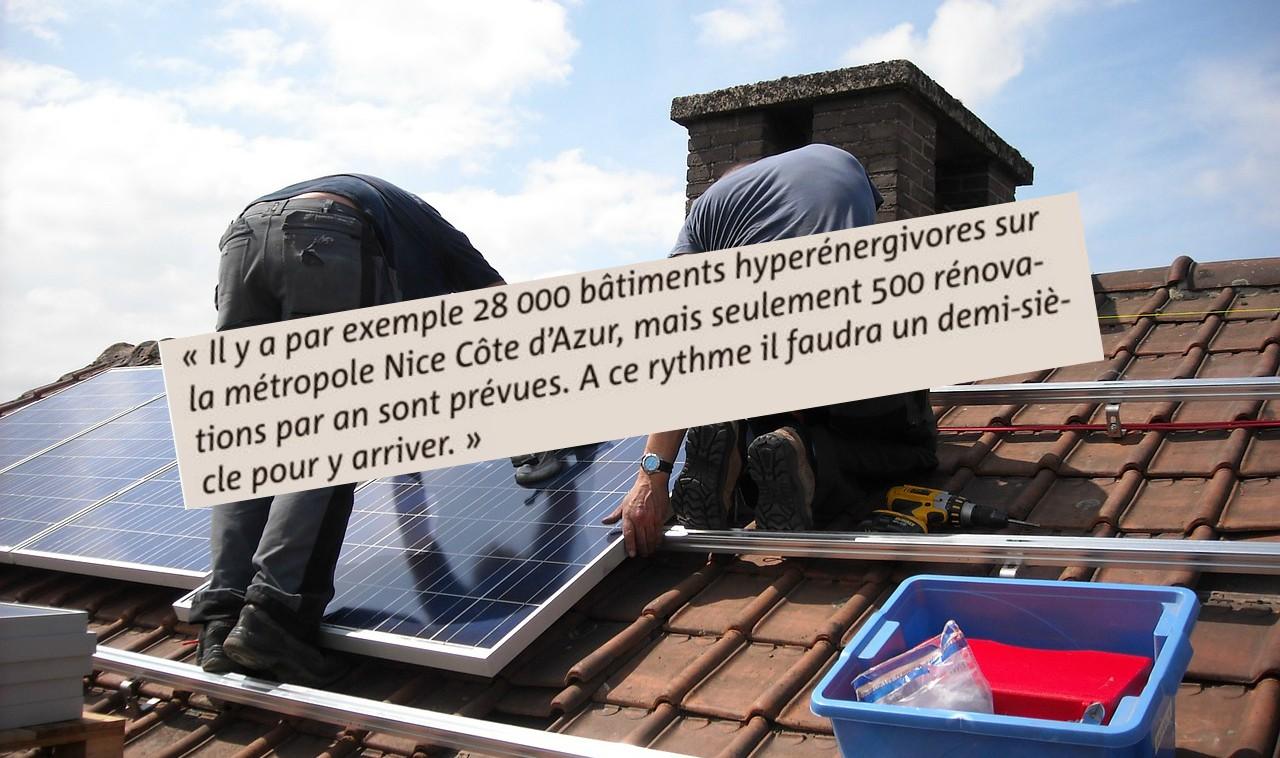 """Vu l'état des bâtiments dans la métropole Nice Côte d'Azur, il faudrait """"100 ans"""" pour les rendre moins énergivores"""