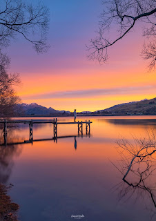 Lake Hayes, New Zealand, NZ, Queenstown, Sunset, Winter Festival