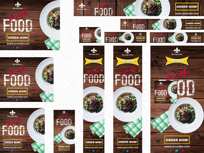 Food advertising banner templates