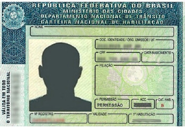 Carteira de habilitação brasileira