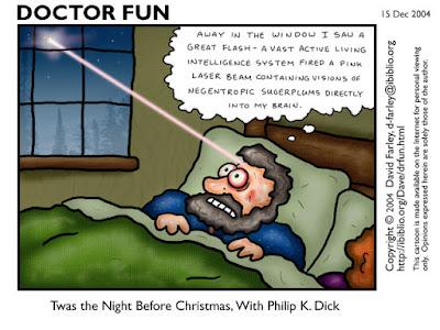 Meme de humor sobre Charles Dickens y Philip K Dick