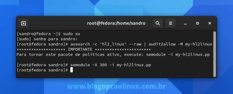Criando regra no SELinux para permitir a execução do Team Fortress 2