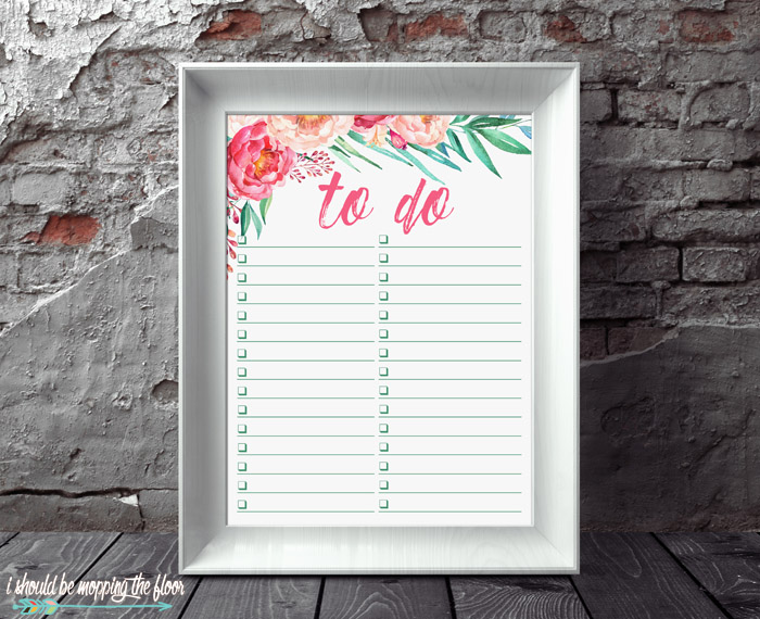 Framed To Do List Printable