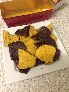 marks spencer belgian dark chocolate coated chilli tortilla chips