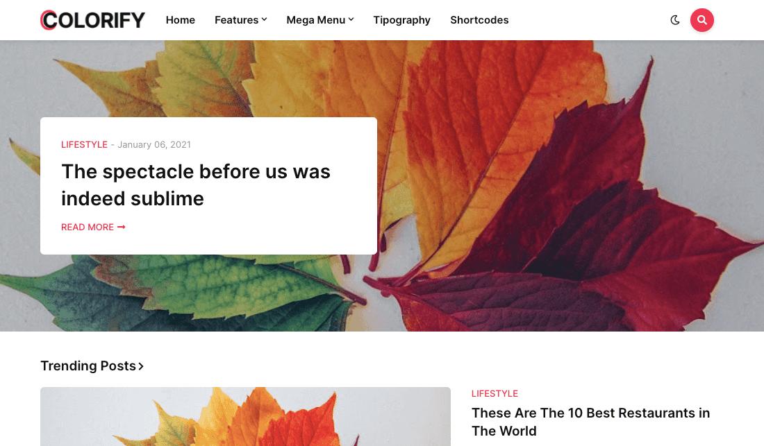 Download Colorify v1.0 | Creative Responsive Blogger/Blogspot Template