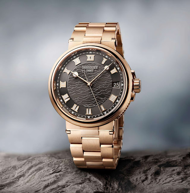 Breguet Marine 5517 in rose gold with slate grey dial