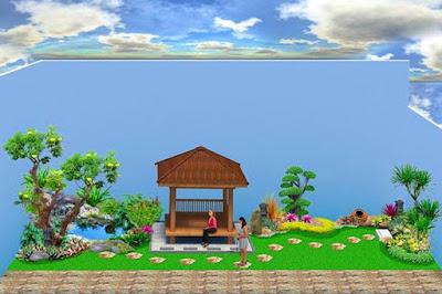 Sketsa Desain Taman Minimalis