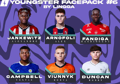 PES 2021 Youngster Facepack 6 by Lingga